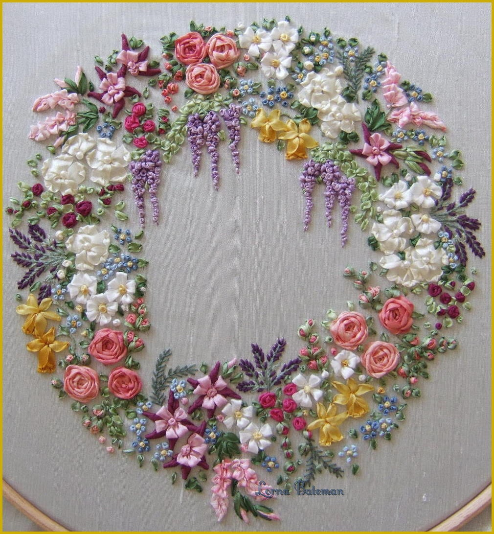 Pdf garland of silk ribbon flowers pattern for silk ribbon zoom bankloansurffo Images
