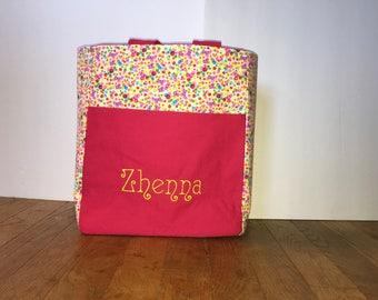 Personalized Toddler Tote Bag, Toddler Tote Bag, Preschool Tote bag, Preschool backpack