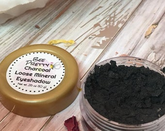 Charcoal Mineral Makeup EyeShadow 5g Jar Charcoal Eye Shadow Vegan Friendly Mineral Make up Loose Eyeshadow