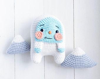 Yoshi the yeti baby crochet amigurumi pattern