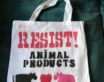 Distressed RESIST! Animal Products for ALL Vegans and Animal Activists!