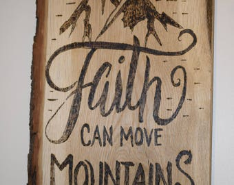 Pyrography wood sign