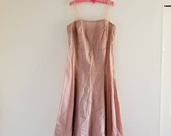 Vintage 1950's Pink Party Dress Large/Extra Large