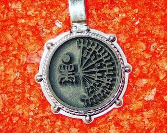 "The Voodoo Talisman Amulet ""Exu Capa Preta"". Silver,gold,shungite."