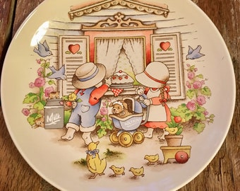 Plate Country Kids Collectible Dessert Plate by Watkins Inc Discontinued Moms Are Special Plate