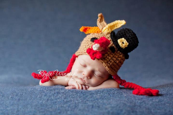 Pdf Instant Download Crochet Pattern No 267 Turkey Hat Photo Prop