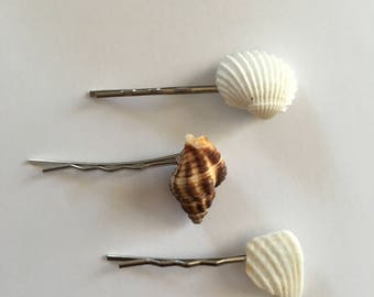 Seashell Hair Accessories ... Shell Hairpin Set of Three (1616)