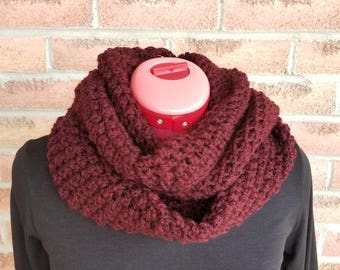 Infinity scarf, Neck warmer, Accessories, Cowl, Handmade Scarf, Perfect Gift ,Cowl, Neckwarmer,  Burgundy