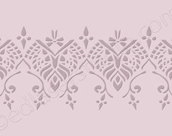 Lace Border Stencil/Mylar190/BO14