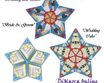 3D PEYOTE STAR Beading Pattern/Tutorial WEDDING/Marriage All Stars + Basic Instructions