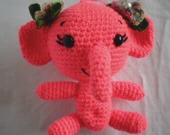 Amigurumi, Handmade Toy, Crochet, Elephant, Pink, Funny