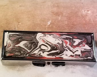 Pill Boxes - Hand Painted -Journey - pb80e