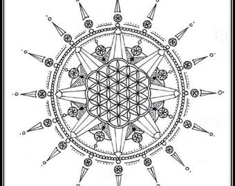 Sacred Mandala Print