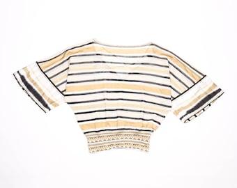 ROBERTO CAVALLI - Gold viscose sweater