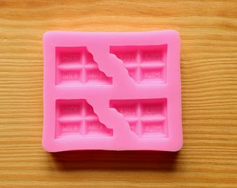 Bitten Chocolate Bar Silicone Mold (Food & Oven Safe)