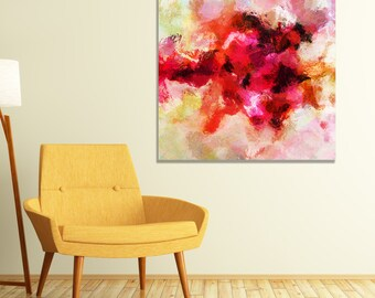 Abstract Art Print, Giclee Print of an Original Abstract and Minimalist Oil Painting, Contemporary Abstract Wall Art, Modern Wall Decor