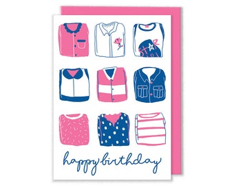 Happy Birthday Clothes Card