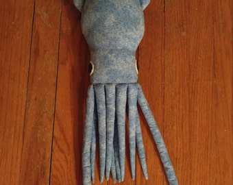 Blue Vines Squid Plush