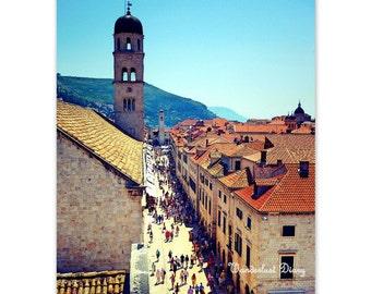 Europe Travel Photography, Rooftops, Dubrovnik, Croatia, Travel Wall Art, City Photography, Fine Art Print, European Photography,Home Decor