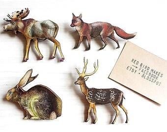 Woodland Hare Pin/Brooch