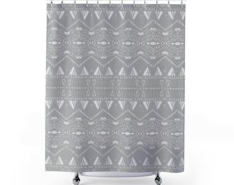 light gray shower curtain. Grey Shower Curtain  gray shower curtain light grey Etsy