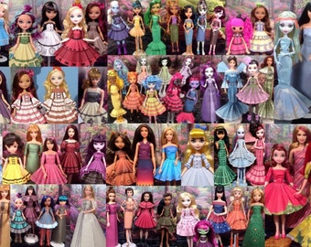 Printable Doll Clothes Mega Pack - Fits Barbie, Ever After High, Monster High and More!