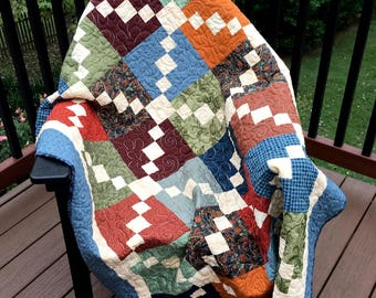 Price Reduced - Stepping Stones Lap Quilt- Sale