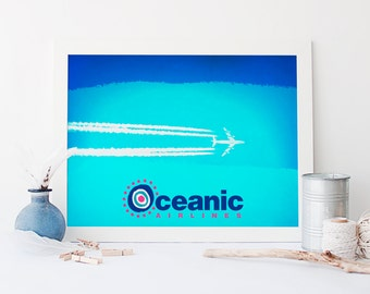 Lost Inspired Oceanic Airlines Print - Wall Art - (Available In Many Sizes)