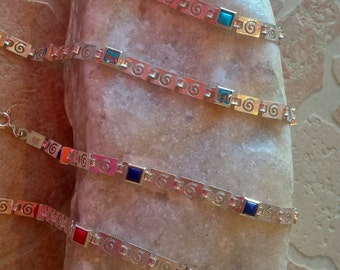 3+1 FREE!! Eternity Sterling Silver Bracelet With Stones and crystals