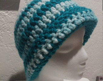 Turquoise Striped Hat