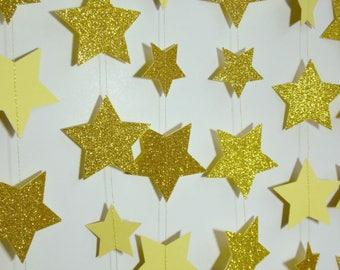 Starry Night Garland, Paper Garland, Twinkle Twinkle Little Star Decor, Paper Dot Garland, Night Sky Decoration