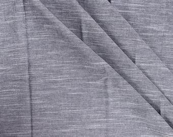 Gray Plain Slub Samray Handloom Khadi Fabric-40019
