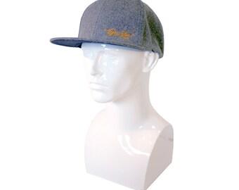 TyneStar* Signature Snapback Baseball Cap Wool Grey
