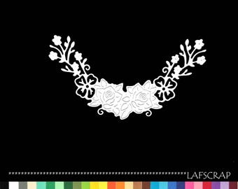 2 cut rose garden flower border border die cut deco embellishment scrapbooking