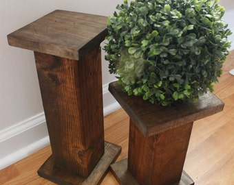 Candle holders- farmhouse candle holders - wood decor - handmade wood decor