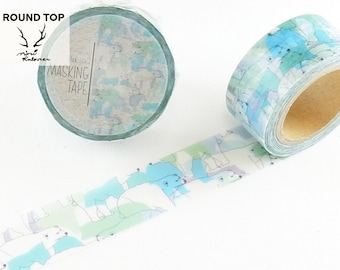 20mm width | Round Top - MiriKulo:rer - Polar Bear Washi Masking Tape