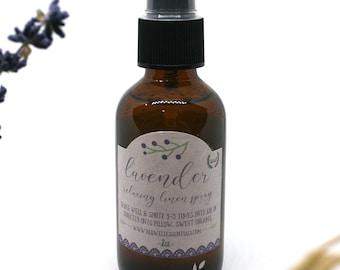 ORGANIC Pillow Spray - Organic Lavender // Linen Spray // Room Spray // Relaxation Spray // Pamper gift