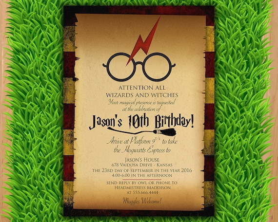 Harry potter invitation magical birthday invitation party filmwisefo