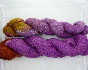 Sockyarn, Tweed, handdyed