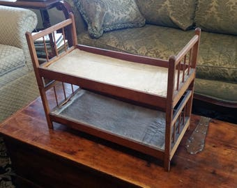 Vintage Wooden Doll Bunk Bed