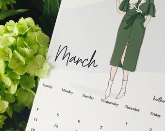 March Calendar Pages - Desk and Planner Pages March - Heather Stillufsen