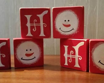 Ho Ho Ho block set