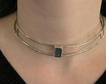 Mermaid's Treasure, Sterling Necklace With Afghanistan Fluorite
