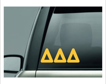 Delta Delta Delta, Tri Delta, Tri Delta Sticker, delta delta delta decal, tri delta sticker, sorority decal, sorority sticker, sorority gift