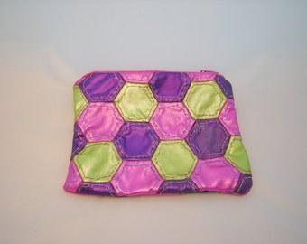 Metallic Coin Purse/Make Up Bag