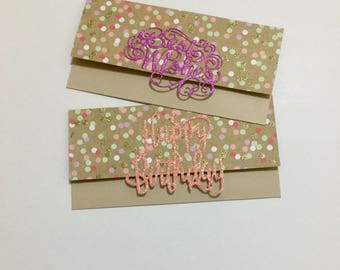 Birthday Money Envelopes - Set of 2