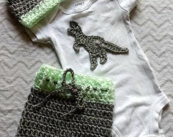 Dinosaur newborn outfit