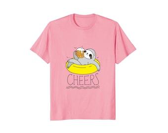Funny sloth shirt for men, Beer Sloth shirt for him, Gift for Dad, Cute Sloth T-shirt, beer gift for men