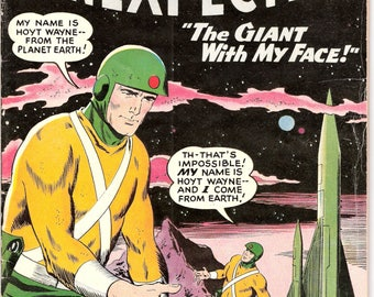 Tales of the Unexpected 38, Giant Alien comic, Scifi book, 1959. Sci- fi Gift, Astronauts, Outer Space art. DC Comics in FN (6.0)