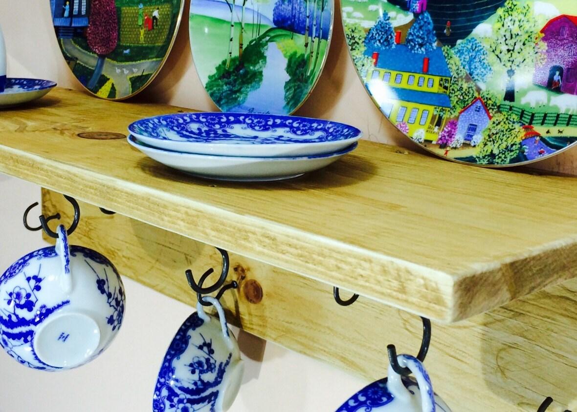 Küche Lagerung schwimmende Regal /mug Wandbehang China Tee